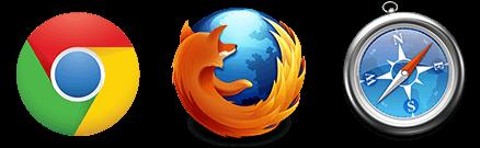 Supports Chrome, Firefox, and Safari